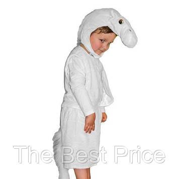 Маскарадный костюм меховой Лошадь белая (размер S)