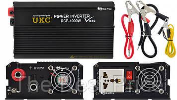 Профессиональный преобразователь инвертор UKC 12V-220V RCP-1000W USB Black