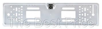 Камера заднего вида в рамке номерного знака A58 с подсветкой (16 4 LED) Silver