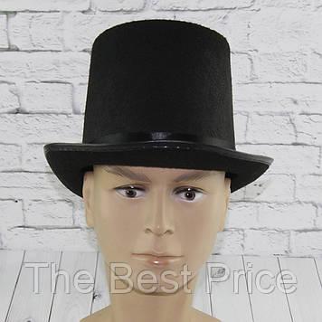 Шляпа Цилиндр фетр высокий H15см (черный)