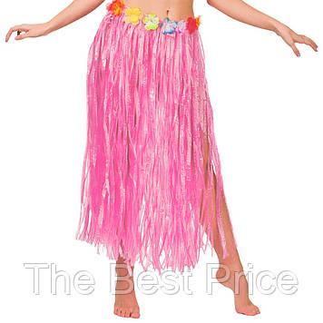 Гавайская юбка (75см) розовая