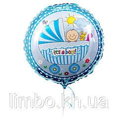 Фольгированный шар малыш в коляске