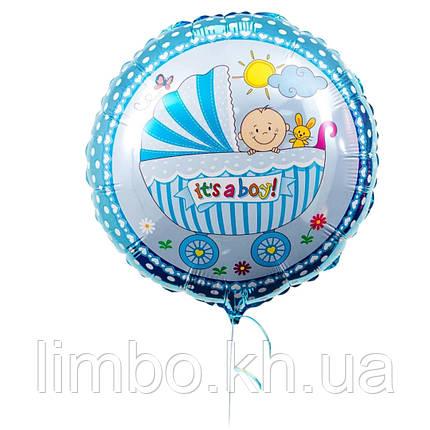 Фольгированный шар малыш в коляске, фото 2