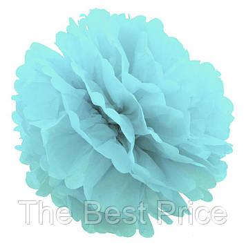 Декор паперові Помпони 20см (блакитний 0001)