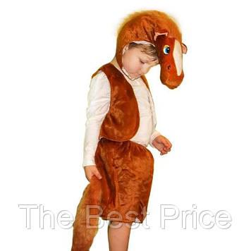 Маскарадный костюм меховой Лошадь коричневая (размер S)