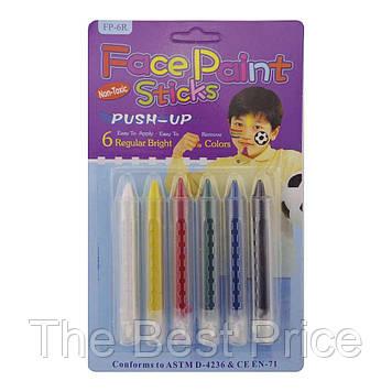 Грим карандаши (6 цветов)