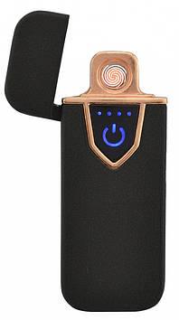 Спіральна сенсорна електрична USB запальничка UKC 711 Black (6748)