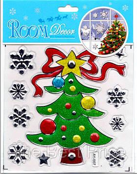 Набор новогодних наклеек Елочка 9253