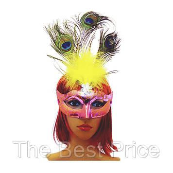 Венеціанська маска Діва (рожева)