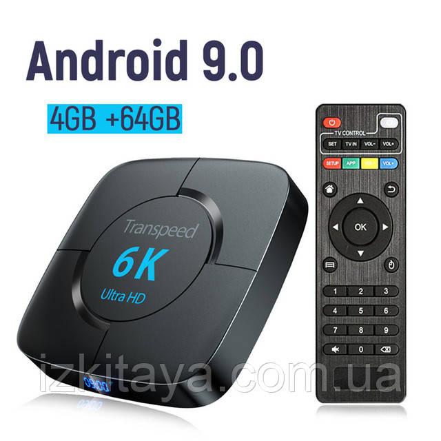 Смарт ТВ-приставка Transpeed 6K 4/64Gb Smart TV + 3 місяці Sweet TV у подарунок