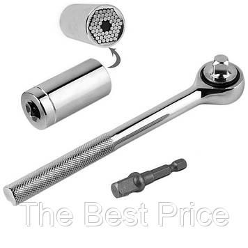 Універсальний торцевий гайковий ключ (трещітка) 7-19 мм (7122)