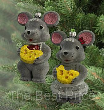 Украшение новогоднее Мышки (уп. 2шт)