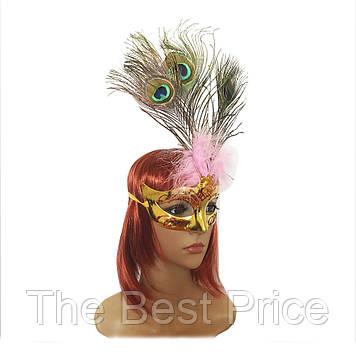 Венеціанська маска Діва (золота)