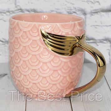 Чашка Русалочка с золотой ручкой