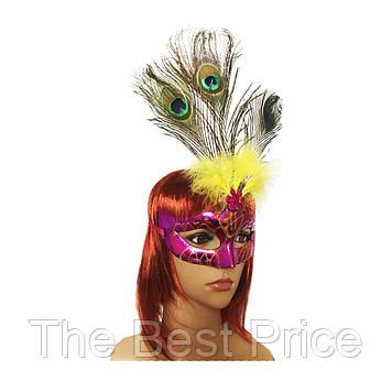 Венеціанська маска Діва (малинова)