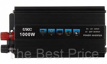 Преобразователь напряжения(инвертор) UKC 12-220V 1000W Black