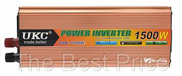 Преобразователь напряжения(инвертор) 24-220V 1500W USB