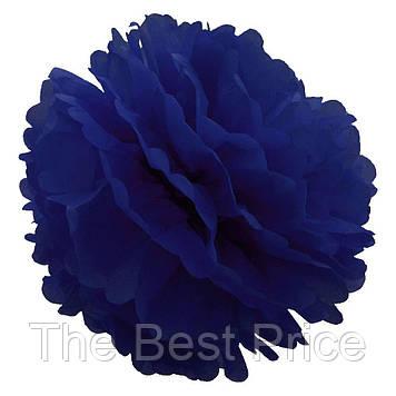 Декор паперові Помпони 25см (синій)