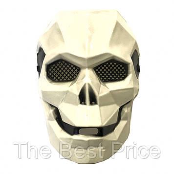Маска Киборг череп (белый)