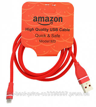 USB кабель USB - Micro USB 1 метр Amazon M3 (Микс цветов)