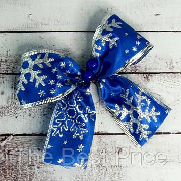 Бант рождественский синий уп 7шт