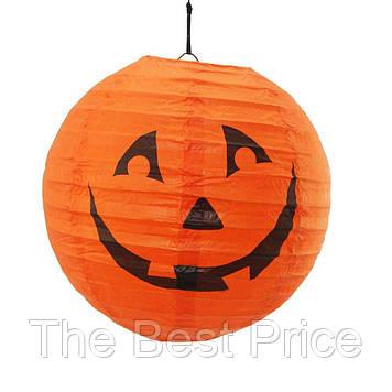 Декор подвесной (20см) оранжевый с тыквой