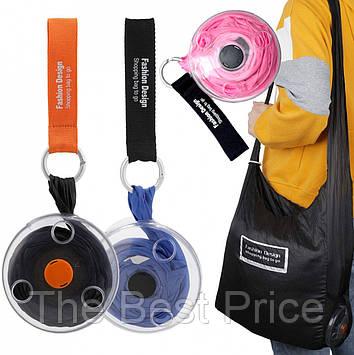 Складная компактная сумка-шоппер Shopping Bag To Roll Up (случайный цвет)