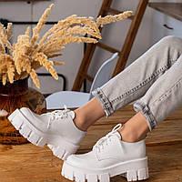 Белые туфли женские  натуральная кожа