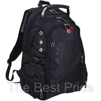Рюкзак Swiss 8810 с боковыми карманами и водонепроницаемым чехлом (L) Black