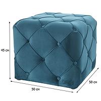 Бирюзовый мягкий пуфик-куб Signal Aviva K Velvet 50х50х45см с бархатной обивкой в салон красоты