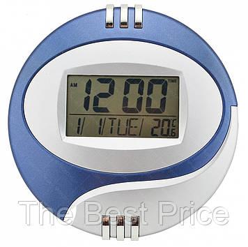 Електронні настінні годинники Kenko КК 6870 з термометром (випадковий колір) (1229)