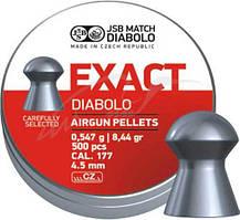Кулі пневматичні JSB Diabolo Exact. Кал. 4.53 мм. Вага - 0.54 р. 500 шт/уп