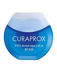 Зубная нить межзубная Curaprox DF 820 35 м флосс для зубов тефлоновая с хлоргексидином