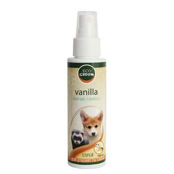 Парфюмерная вода для собак Eco Groom с ароматом ваниль, 100 мл
