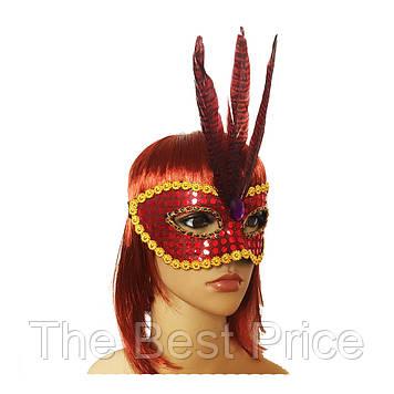 Венеціанська маска Фантазія (червона)