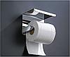 Держатель туалетной бумаги с полкой