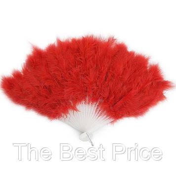 Віяло перо (червоний)