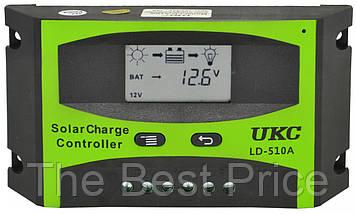 Сонячний контролер UKC 10A LD-510A, контролер для сонячної батареї (2836)