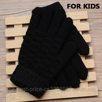 Дитячі в'язані рукавички Shouhushen Чорний
