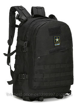Тактичний (штурмової, військовий) рюкзак U. S. Army 45 літр Чорний