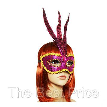 Венецианская маска Фантазия (малиновая)