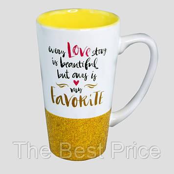 Чашка для латте Любимая (золото)