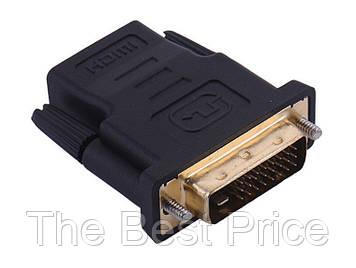DVI-D (241) Male to HDMI Female переходник для вывода видео из устройств с разъёмом DVI