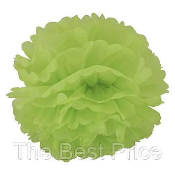 Декор паперові Помпони 25см (зелений)