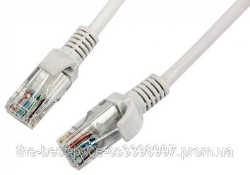 Патчкорд, витая пара для интернета LAN 3м 13525-7 серый