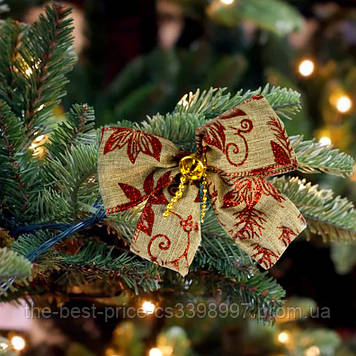 Бант рождественский льняной