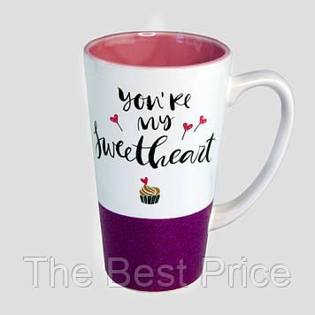 Чашка для латте Сладкая (малиновая)