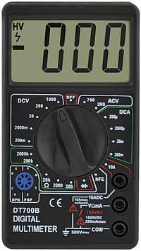 Цифровий портативний мультиметр (тестер) DT700B Black (2602)