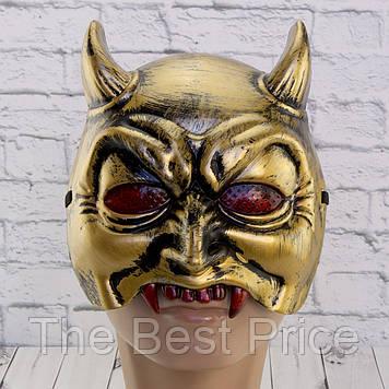 Полумаска Демон (золото)