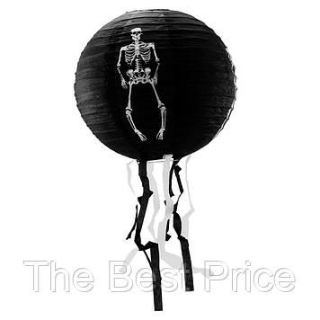 Декор подвесной (30см) черный со скелетом